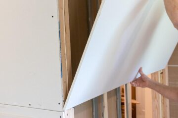 installing drywall with the right side out