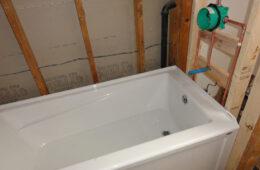 setting a bathtub
