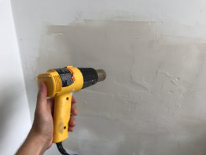 How Do You Make Drywall Mud Dry Faster? With a heater