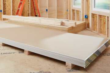 storing drywall in a garage